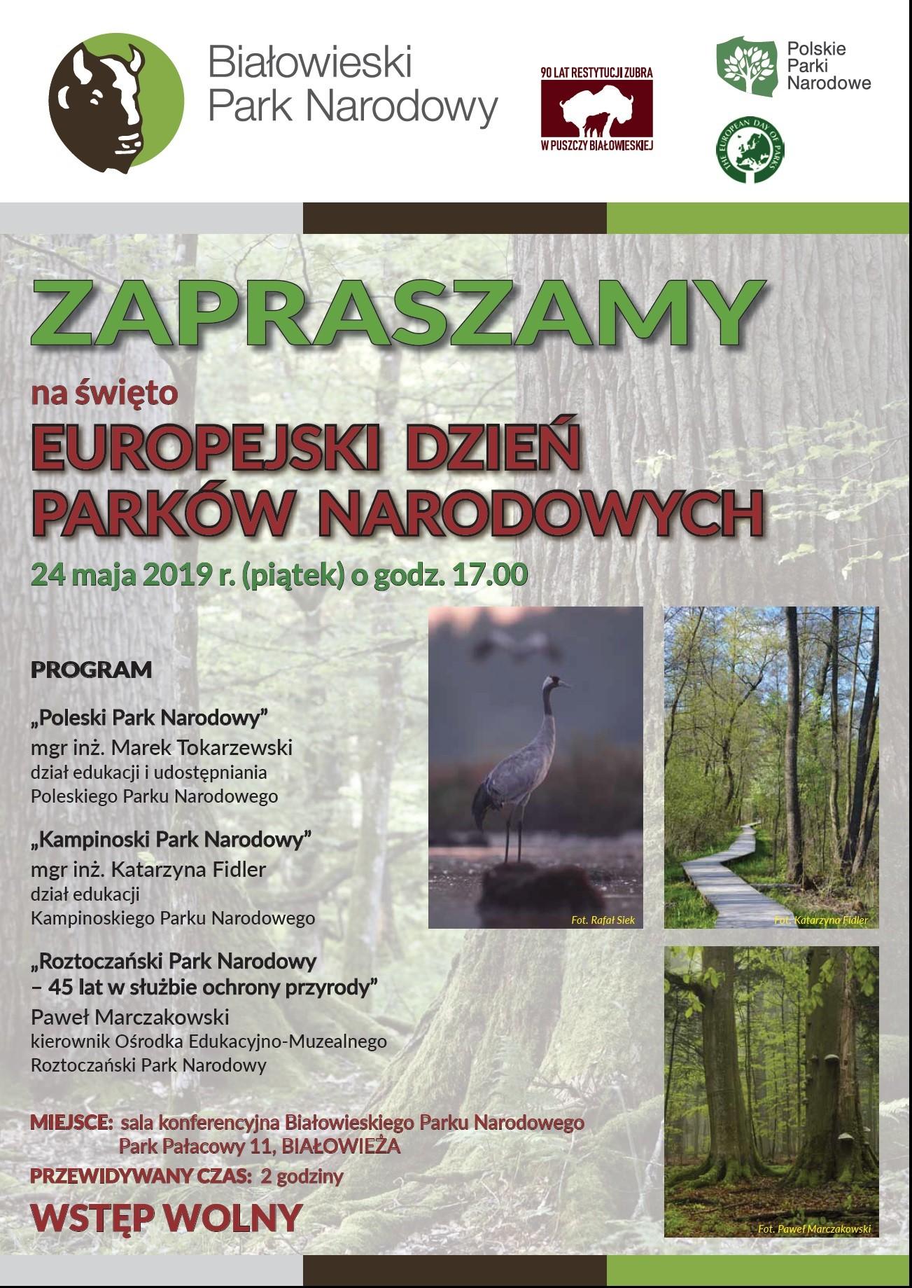 Powiat Hajnówka Europejski Dzień Parków Narodowych W Bpn